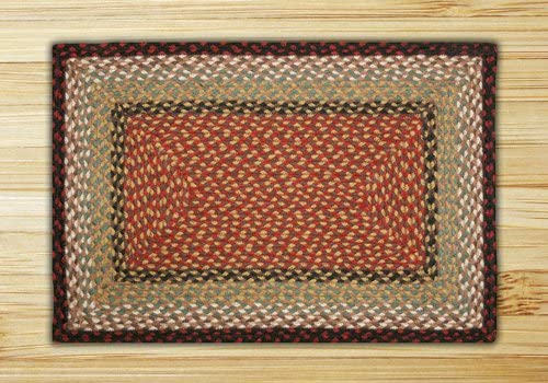 Earth Rugs Rectangle Area Rug, 8 x 10 , Burgundy Mustard