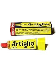ARTIGLIO Colla Adesivo Speciale per Cuoio, Pelle, Sughero, Feltro, Legno, Plastica e Gomma. Tubetto 150ml.