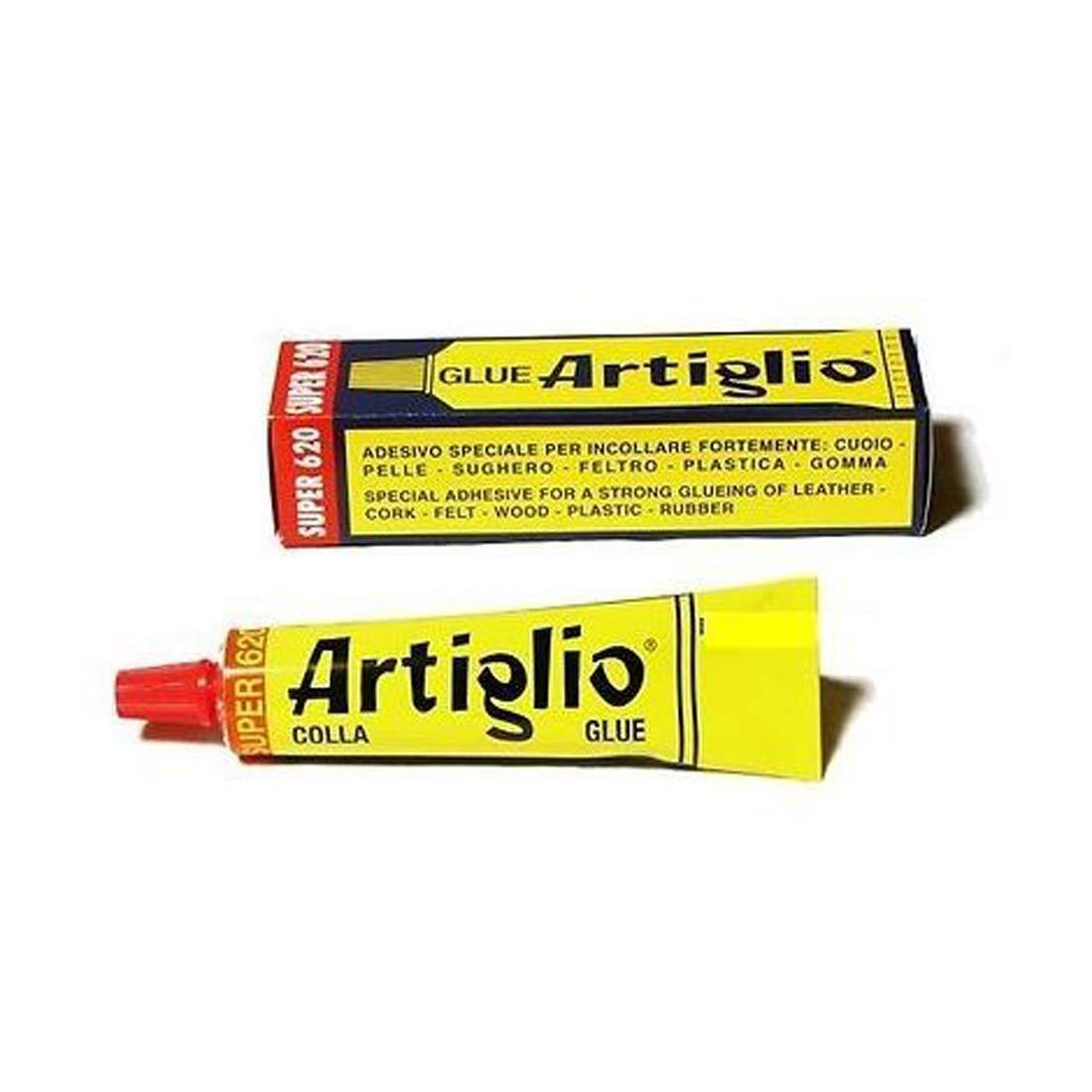 ARTIGLIO Colla Adesivo Speciale per Cuoio, Pelle, Sughero, Feltro, Legno, Plastica e Gomma. Tubetto 150ml. ml. 150
