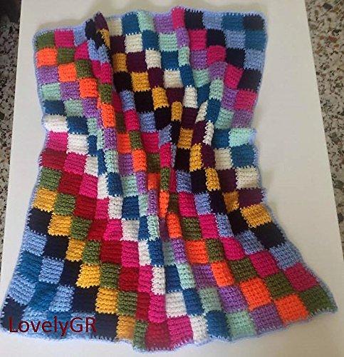 Amazon Com Crochet Baby Blanket Multi Colored Squares Soft Acrylic Yarn Handmade,Smoked Prime Rib Roast Rub