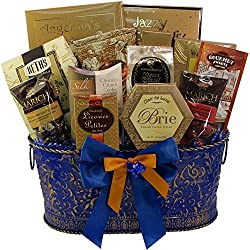 Art of Appreciation Gift Baskets True Blue Gourmet Summer Food Gift Basket (Candy)