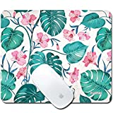 fuinhi-Tropical Flowers Palm Tree Leaves Mouse Pad Printed Non-Slip Rubber Gaming Mouse Pad Mat for Laptop Computer & PC 9.5'7.9' inches 3mm