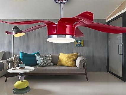 Ventilador de techo creativo moderno LED, salón, restaurante ...