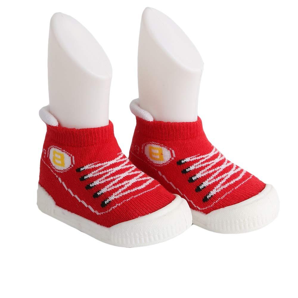 Yubingeo Baby Indoor Slippers with Rubber Sole Outdoor Sneaker for Toddle Walking