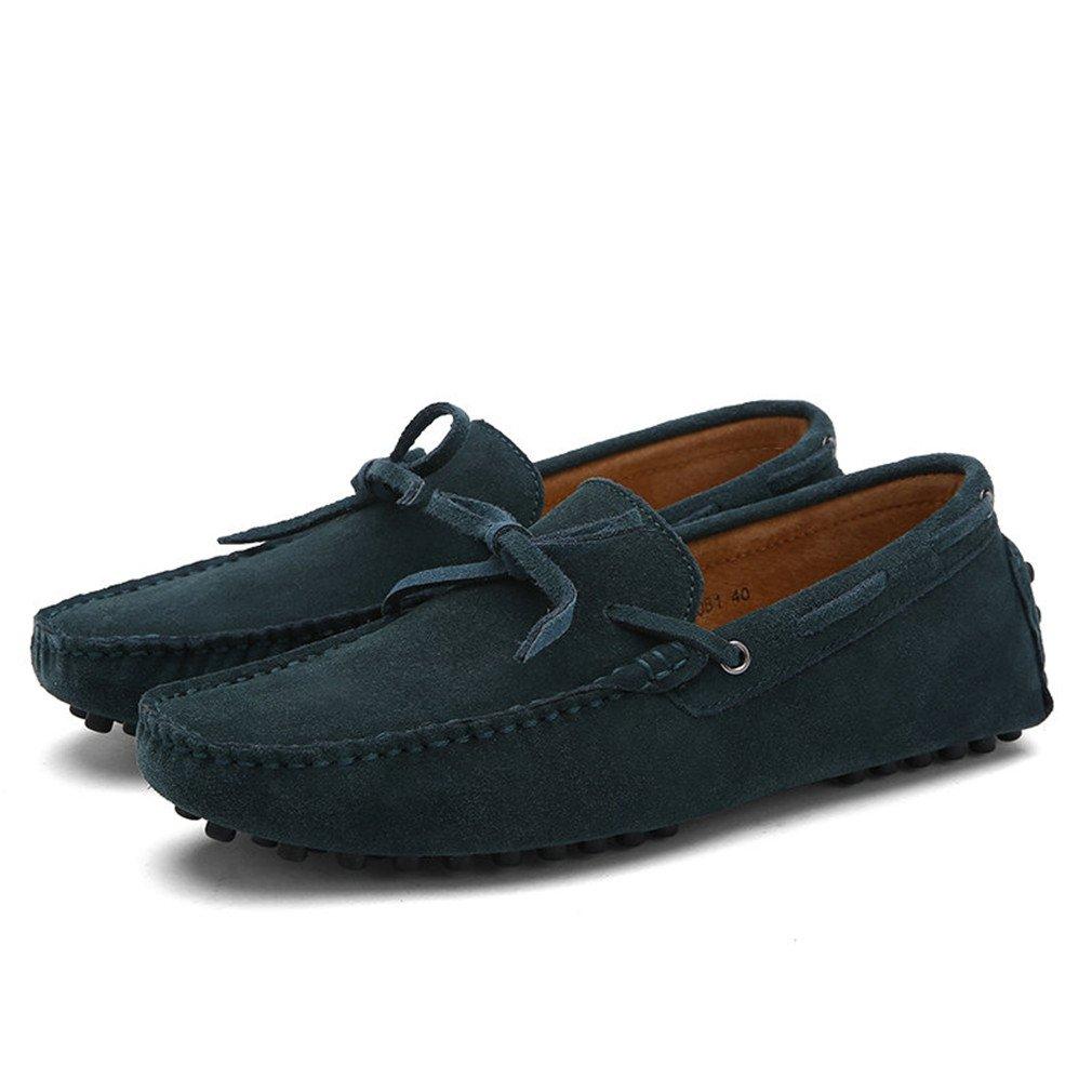 Bridfa Vaca Suede Leather Men Flats Hombres Zapatos casuales Hombres Mocasines Zapatos de conducción 10|Mogreen