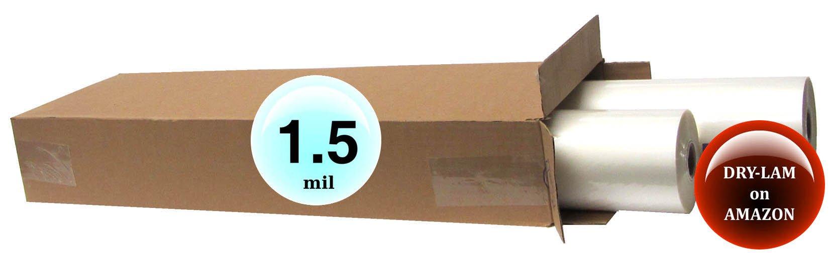 Qty 4 Rolls DRY-LAM Standard Laminating Film 25'' x 250' 1.5 Mil 1'' core by DRY-LAM Standard