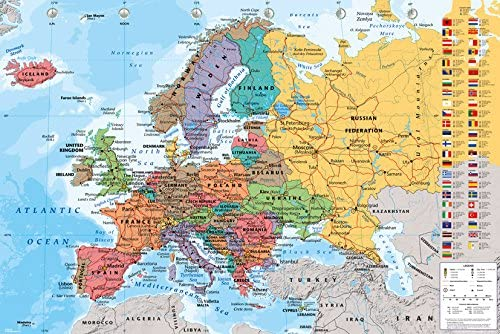 GB eye LTD, Mapa de Europa, Maxi Poster, 61 x 91,5 cm: Amazon.es ...