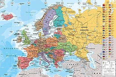 GB eye LTD, Mapa de Europa, Maxi Poster, 61 x 91,5 cm: Amazon.es ...