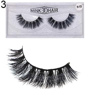 3d Faux Mink Reusable Curly Thick Self Adhesive False Fake Eyelashes False Eyelashes Beauty Essentials