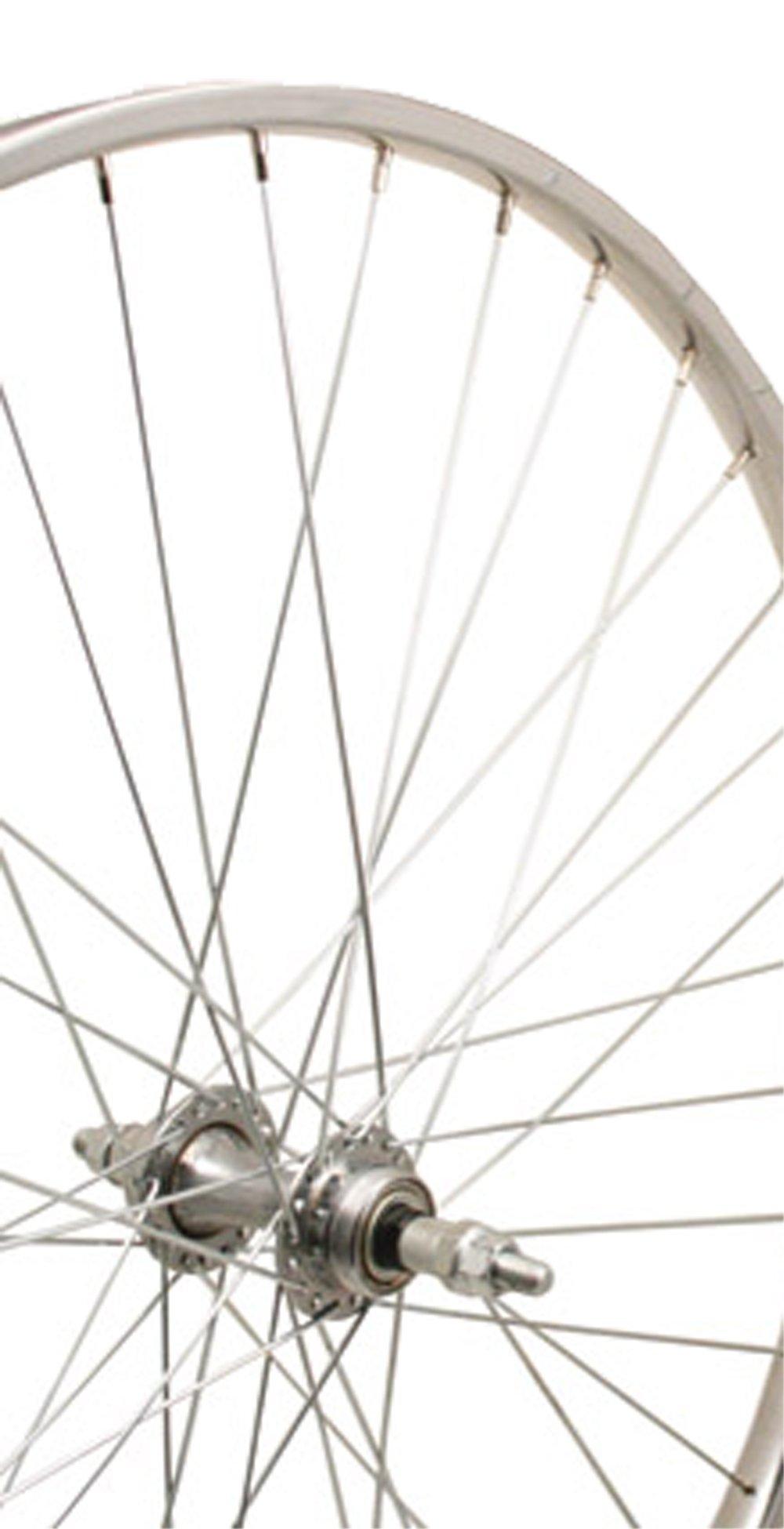 Sta-Tru Silver Steel 6-7 Speed Freewheel Hub Rear Wheel (26X1 3/8-Inch)