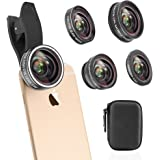 Cell Phone Camera Lens Kit, Vorida HD Camera Lens 0.6X Wide Angle Lens & 15 X Macro Lens & 198 Degree Fisheye & 2X Telephoto Lens & CPL for iPhone X/8/7 Plus/7/6s Plus/ 6s/ Samsung,ect