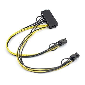 bgning ATX 24pin a Dual a 6 pin PCI-E tarjeta gráfica Cable ...