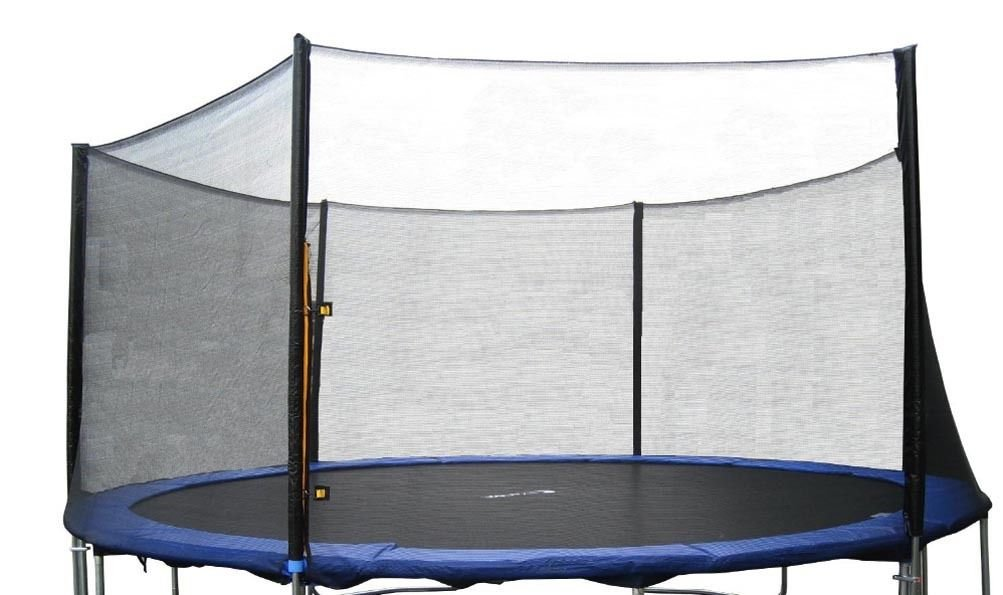 ExacMe 15' FT Trampoline Replacement Outer Enclosure Net 6 Poles N015(Trampoline sold separately)