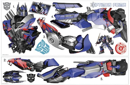 RoomMates Transformers: Age of Extinction Optimus Prime Peel and Stick Giant Wall Decals