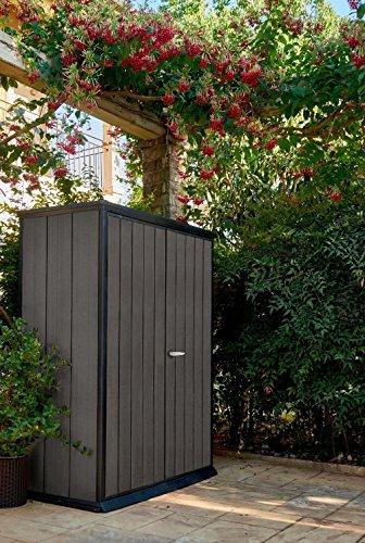 Keter Dark Grey High Store Vertical Outdoor Resin Storage