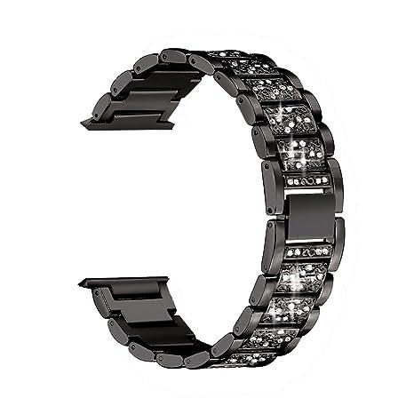Amazon.com: feuy para Fitbit Versa bandas correa de acero ...