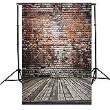 Lelinta Antique Brick Wall Wooden Floor Photography Photo Shoot Studio Prop