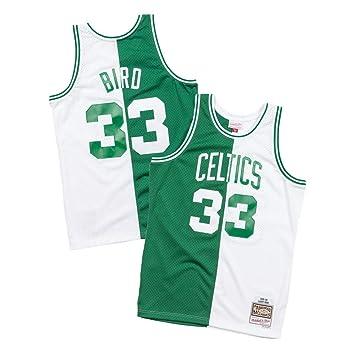 pretty nice ad2cc 1c771 Amazon.com : Mitchell & Ness Larry Bird Boston Celtics Split ...