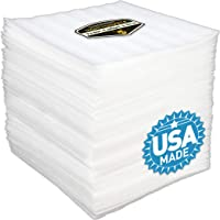 """50 Pack of 1/8"""" Thick Mighty Gadget (R) 12"""" X 12"""" Foam Wrap Sheets, Safely Wrap Dishes, China, and Furniture, Foam Wraps Cushioning for Moving Storage Packing and Shipping Supplies, 50-Pack (White)"""