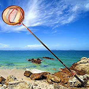 Retractable telescoping aluminum alloy pole for Amazon fishing net