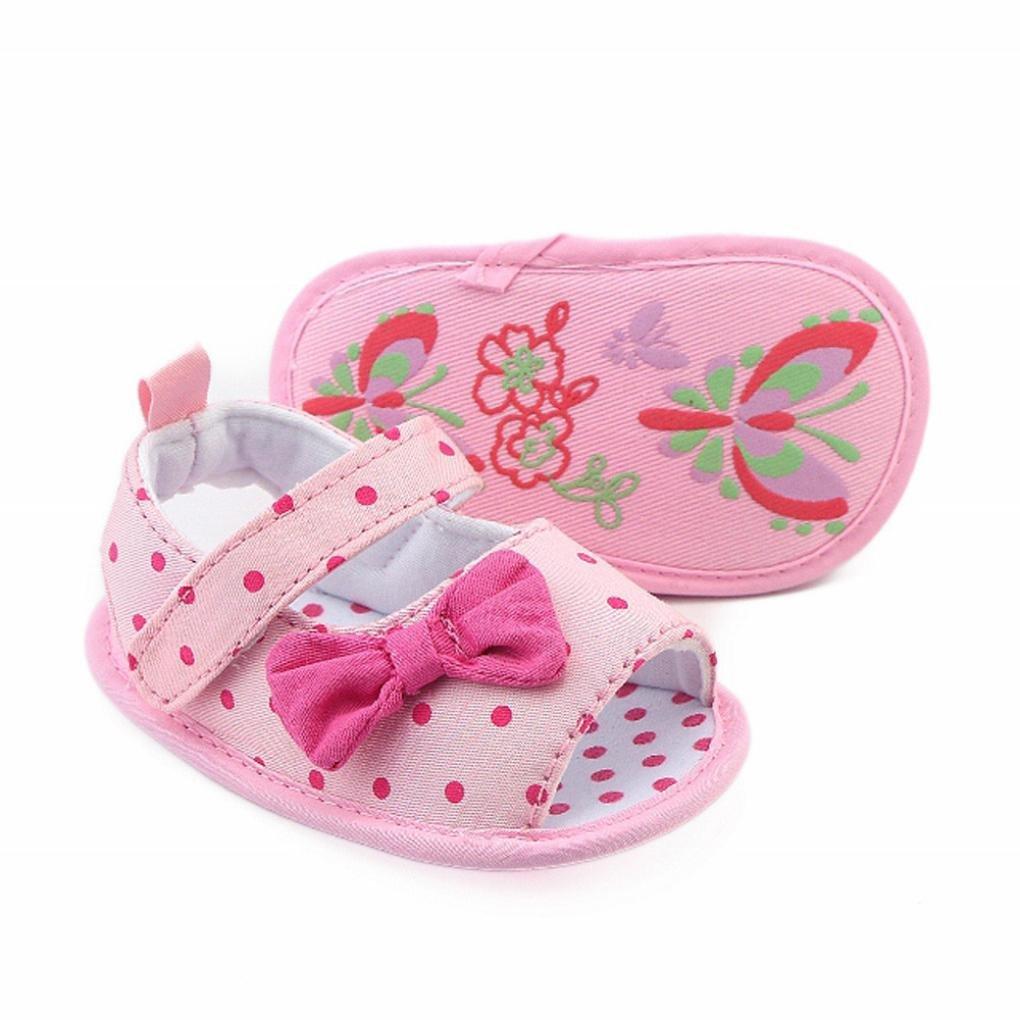 Zapatos Bebé prewalker verano Xinantime Sandalias bebé Niña Bebé Zapatos Princesa Bowknot - Zapatos de vestir (9-12 meses, Rosa): Amazon.es: Relojes