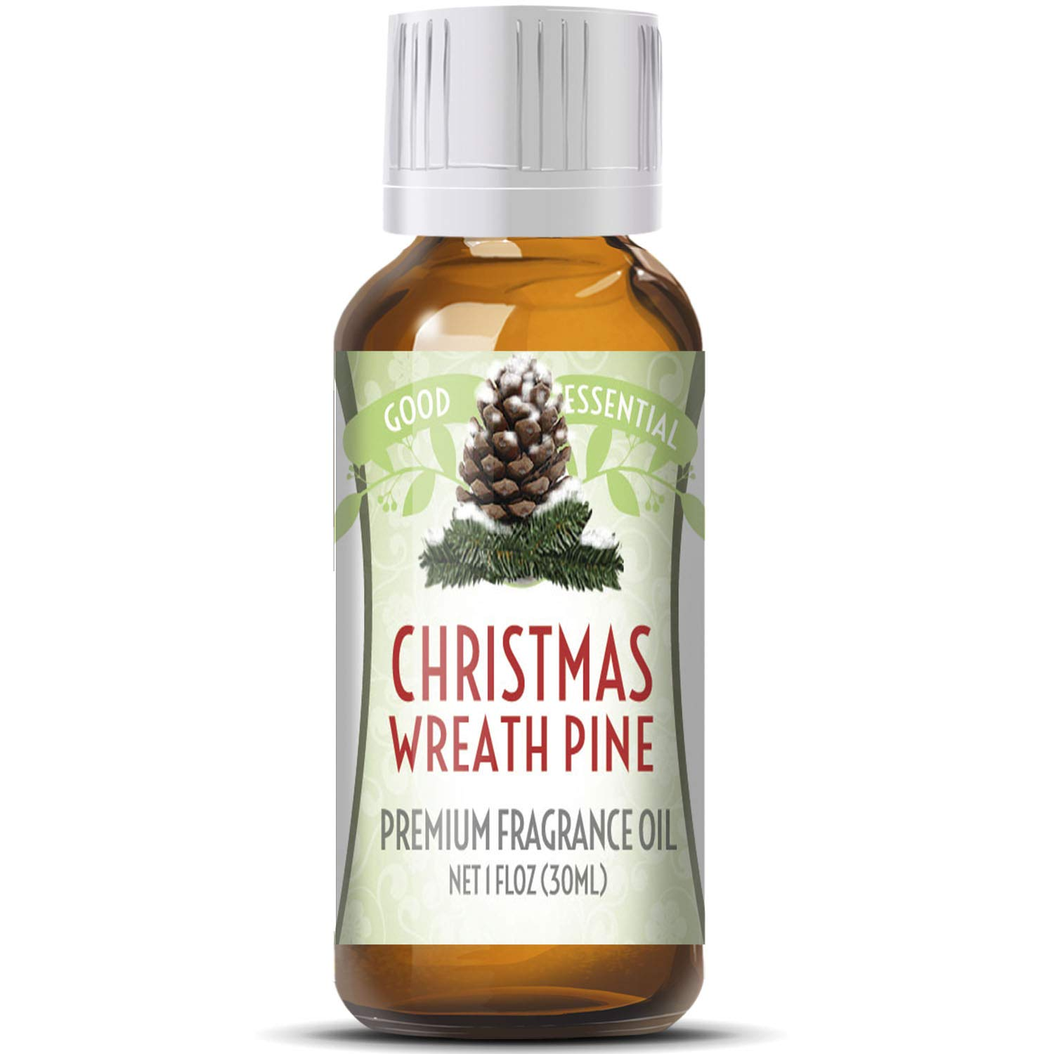 Christmas Wreath Scented Oil by Good Essential (Huge 1oz Bottle - Premium Grade Fragrance Oil) - Perfect for Aromatherapy, Soaps, Candles, Slime, Lotions, and More!