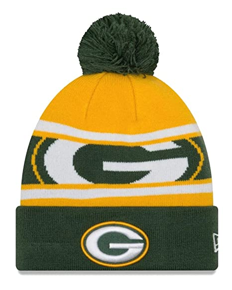 9afb707c256 ... official new era green bay packers nfl callout pom cuffed knit hat with  pom 1f75a 78f68