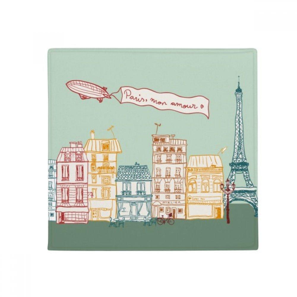 DIYthinker Paris Airship France Mark Line Drawing Anti-Slip Floor Pet Mat Square Home Kitchen Door 80Cm Gift