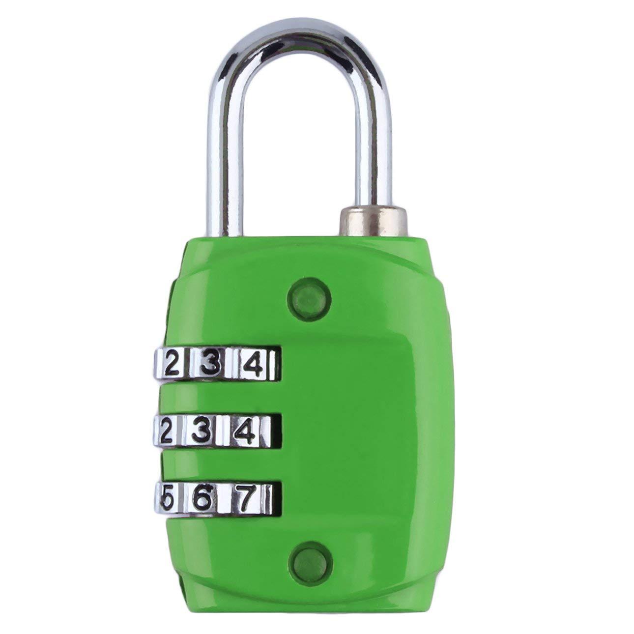 Ballylelly Aleaci/ón de zinc Seguridad 3 D/ígitos N/úmero de c/ódigo de combinaci/ón Candado de bloqueo Para equipaje Cremallera Mochila Bolso Caj/ón de maleta