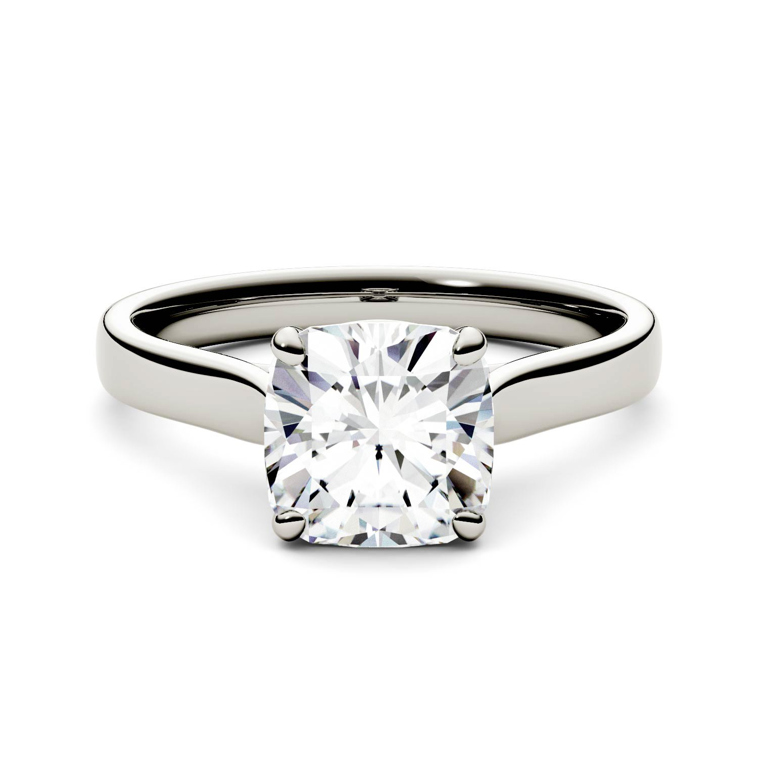 Forever One Cushion 7.5mm Moissanite Engagement Ring-size 7, 2.00ct DEW (D-E-F) By Charles & Colvard