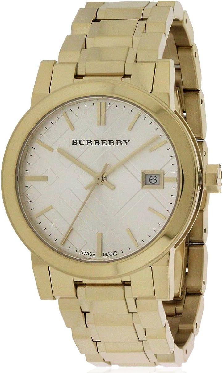 BURBERRY BU9103 - Reloj para Mujeres, Correa de Acero Inoxidable Color Dorado
