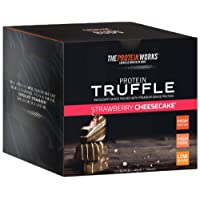 The Protein Works Protein Truffle, Strawberry Cheesecake, Box of 12