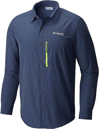 Columbia Camisa de pluma de senderismo de manga larga - Zinc / Voltaje de hombre, XL: Amazon.es: Ropa y accesorios