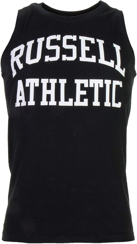 Russell Athletic Camiseta sin Mangas para Hombre Tela Negra A8-001-1: Amazon.es: Ropa y accesorios