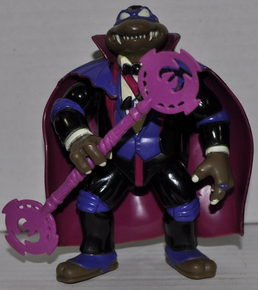 Vintage Don as Dracula with Staff - Universial Studios Monsters (1993) - Action Figure - Playmates - TMNT - Teenage Mutant Ninja Turtles Collectible Figure - Loose Out of Package & Print (OOP)