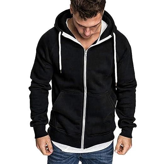 Binmer Mens Long Sleeve Autumn Winter Casual Sweatshirt Hoodies Top Blouse Tracksuits