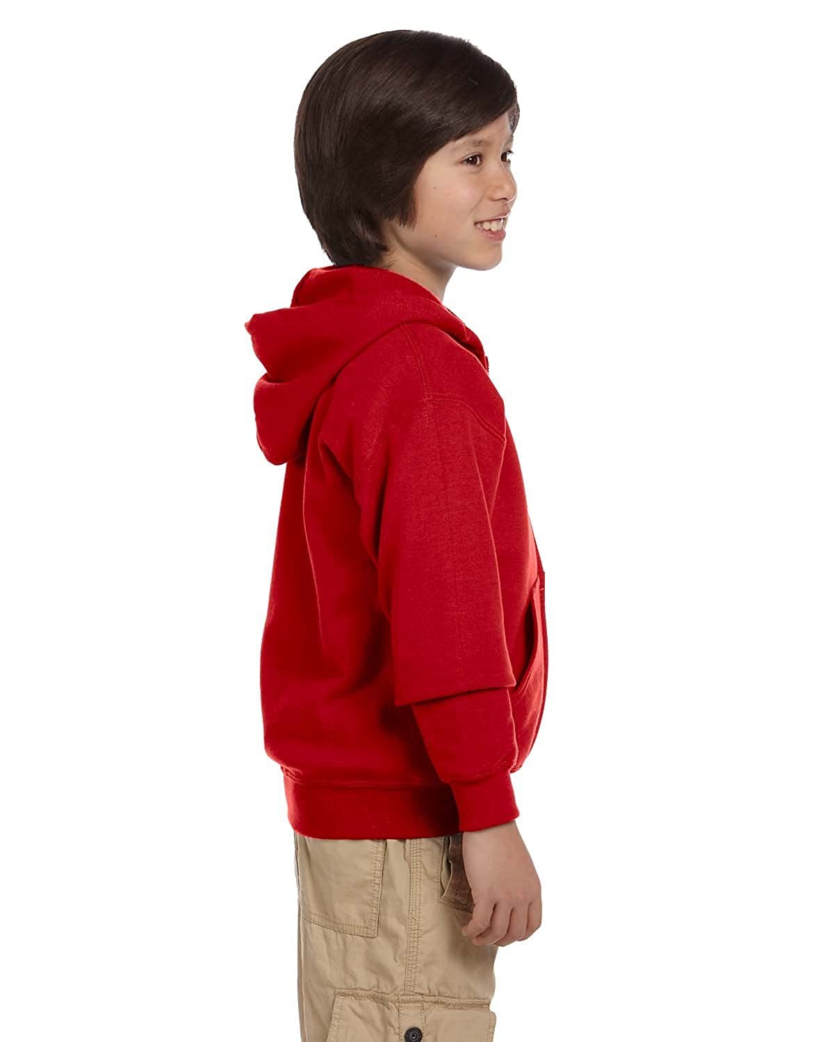 Gildan Big Boys' Heavy Blend Ribbed Full-Zip Hooded Sweatshirt 562