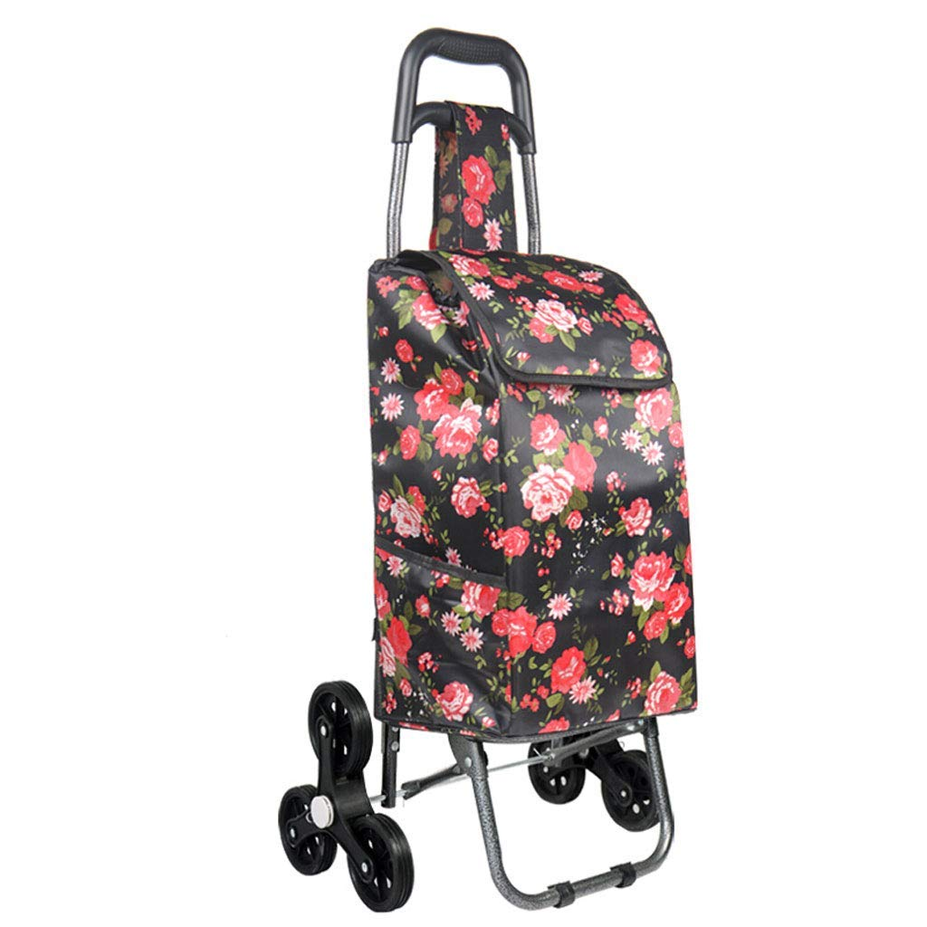 Vvlo Fashion Folding Portable Trolley Waterproof and Durable widening Comfortable Handle (Color : B, Size : 2593CM)