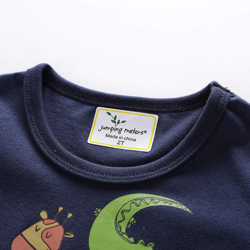 NUWFOR Children Kids Baby Girls Boys Cartoon Print T-Shirt Tee Tops Clothes (Navy,4-5 Years by NUWFOR (Image #4)