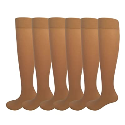 Women's Opaque Spandex Trouser Knee High Socks at Women's Clothing store