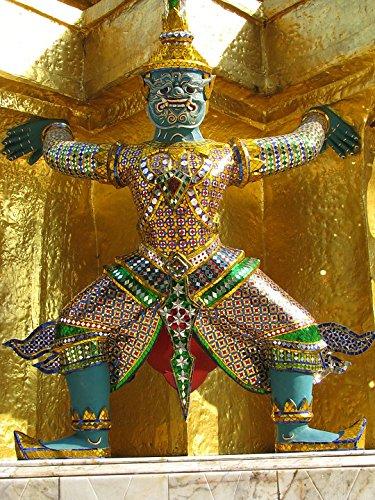 Home Comforts LAMINATED POSTER Gold Statue Thailand Bangkok