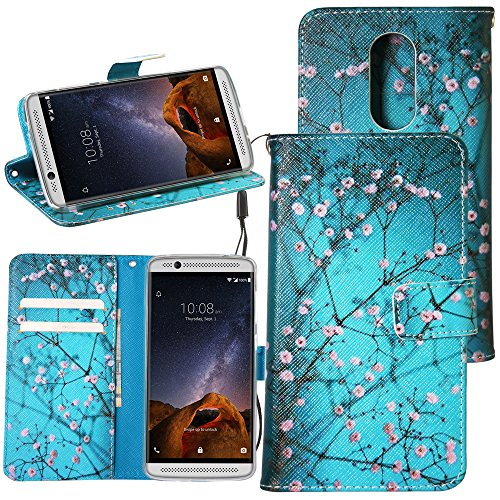 Axon 7 Mini Case, Linkertech PU Leather Wallet Flip Cover Case with Kickstand Feature Card Holder and Wrist Strap for ZTE Axon 7 Mini (A-01)