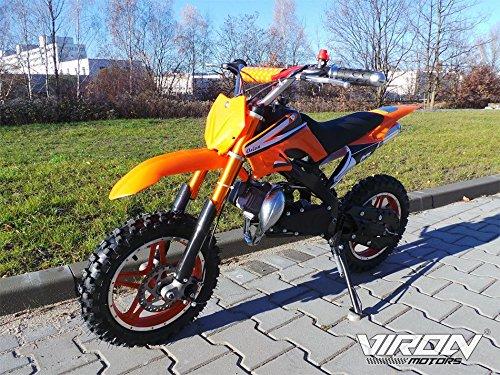 Dirt Bike 49cc - Enduro 10 Zoll Bereifung + Sportluftfilter & Sportauspuff + Aluminium Seilzugstarter 120 x 20 x 59 cm (LxBxH) Orange