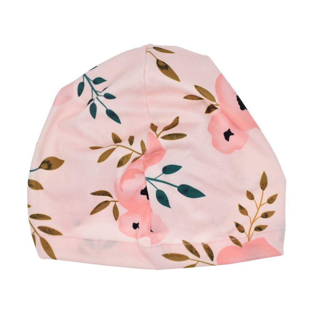 Minshao Baby Girls Sun Floral Bowknot Headband Sets Floral Printed Turban Knot Head Wraps Photography Accessories Newborn Baby Hairband Kit For 0-2 Years old Black