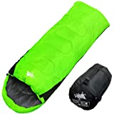WhiteSeek 寝袋 シュラフ 封筒型 コンパクト収納 抗菌仕様 最低使用温度0℃ 1300