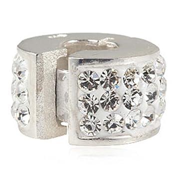 5045ef6681f7 Abalorio de plata de ley 925 con cierre de clip para pulsera Pandora ...