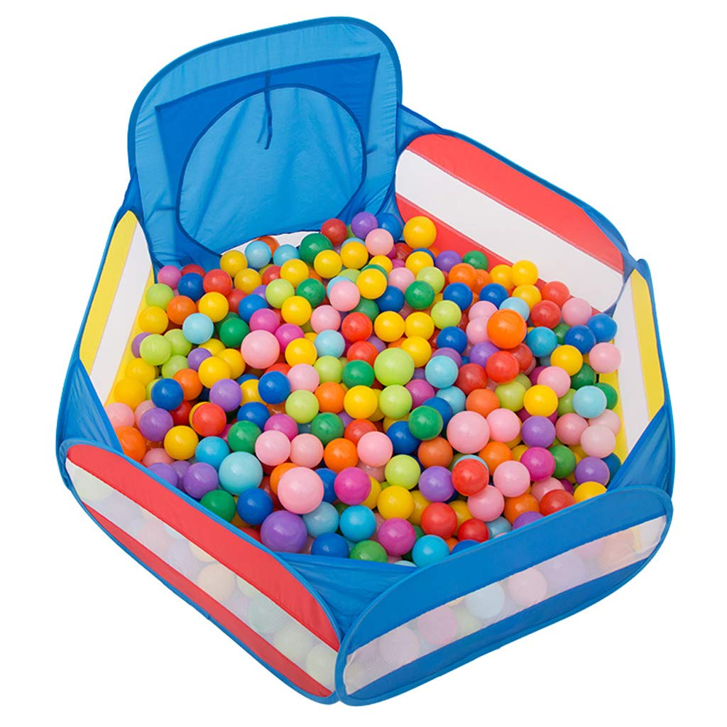 48inch Kids Ball Pool Pit with Basketball Hoop and Storage Bag Baby Play House Easy Folding Portable Durable (Balls not Included)