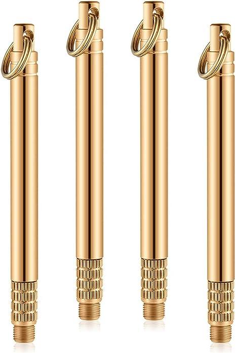 2 Pieces Portable Titanium Toothpicks Pocket Toothpick Metal Toothpick Holder...