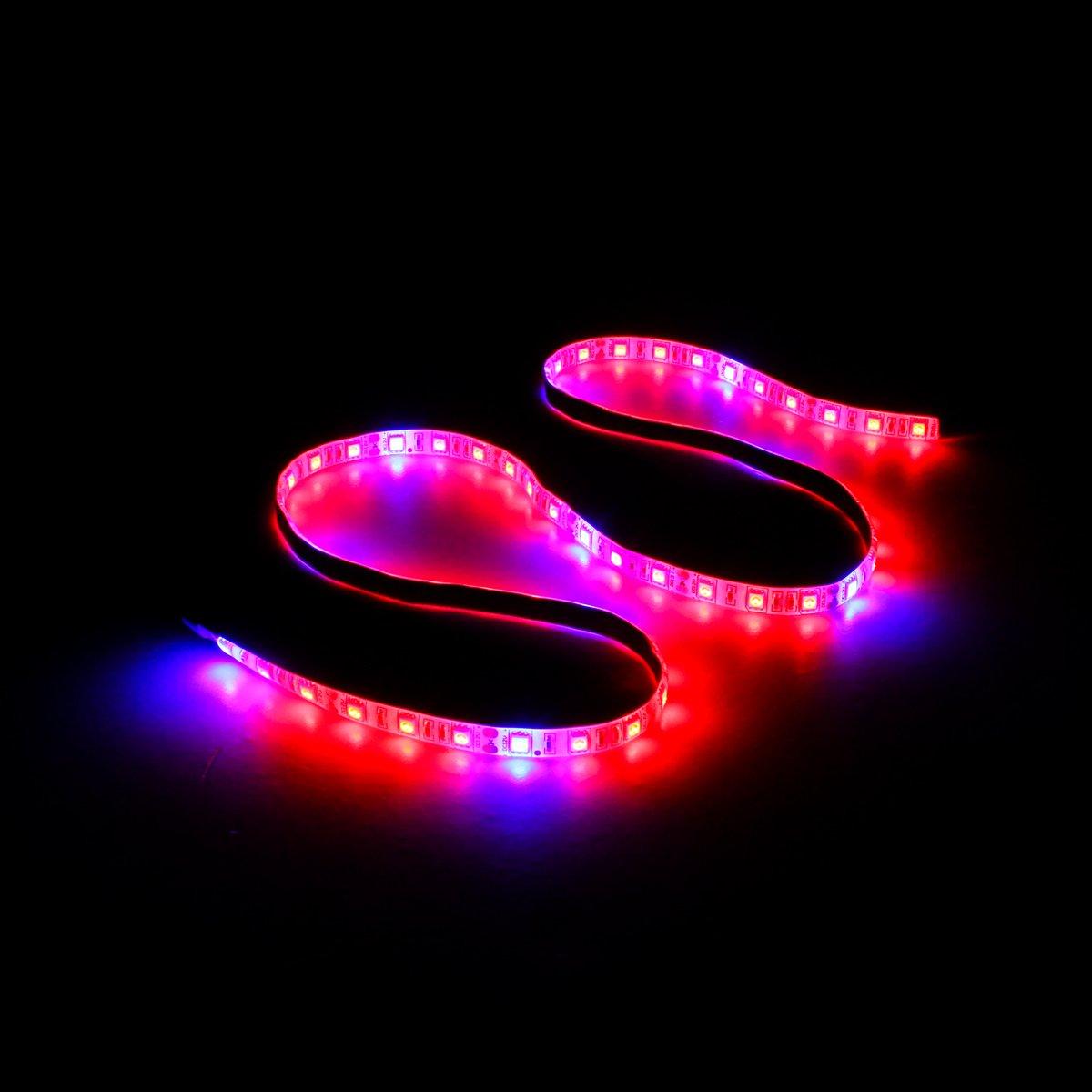 1 Striscia LED Full Spectrum Grow Grow Light ERCZYO 2M Blu 4 1M 4M 5M 5050SMD Rosso Impermeabile Size : Length 0.5M ERCZYO DC12V 0.5M 3M
