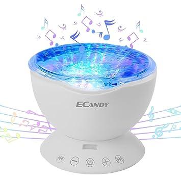 Ecandy Proyector LED de Olas del Mar con control remoto 12 LED y 7 ...